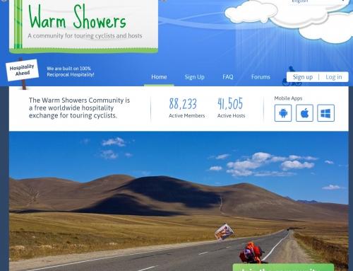 """Bisikletli gezginlerin kullandığı """"Warm Showers"""" uygulaması"""